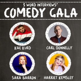 3 Word Interviews' Comedy Gala